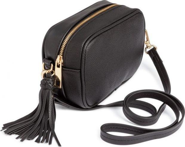 сумка через плечо черная маленькая