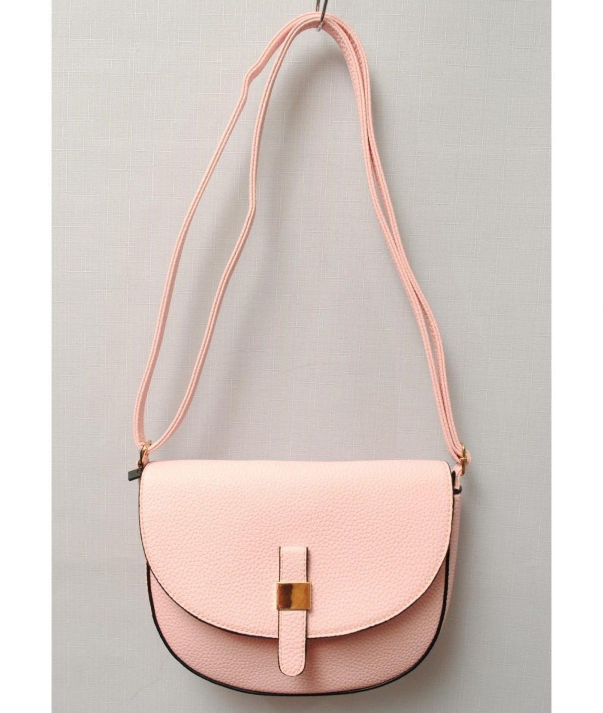 сумка через плечо персиковая