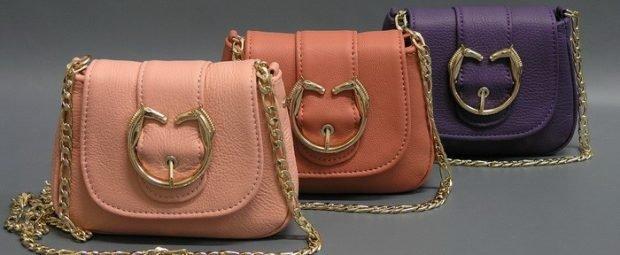 сумки через плечо светло-розовая коричневая фиолетовая на цепочках