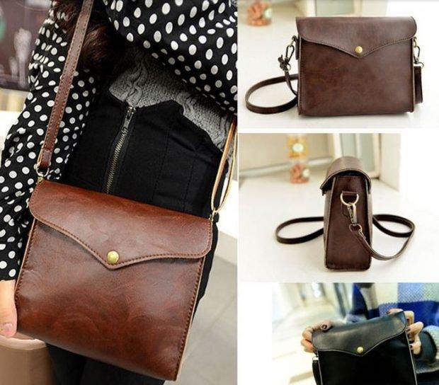 сумка через плечо коричневая