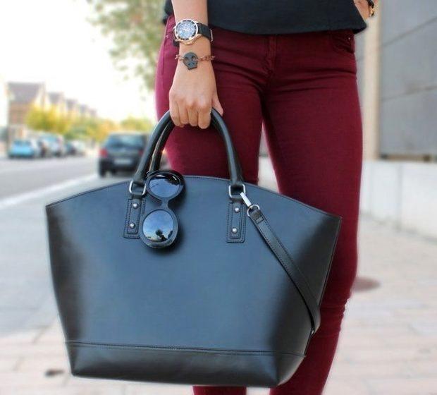 сумках шоппер черная