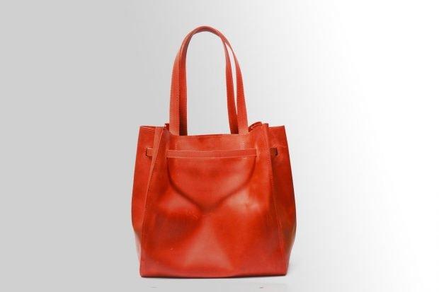 сумках шоппер красная