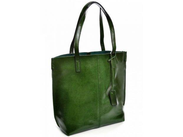 сумках шоппер зеленая