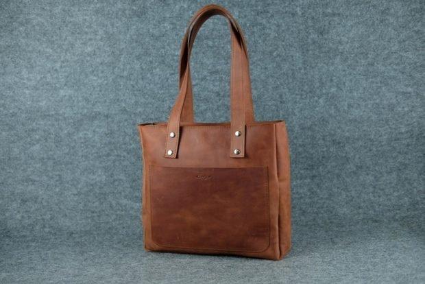 сумках шоппер коричневая