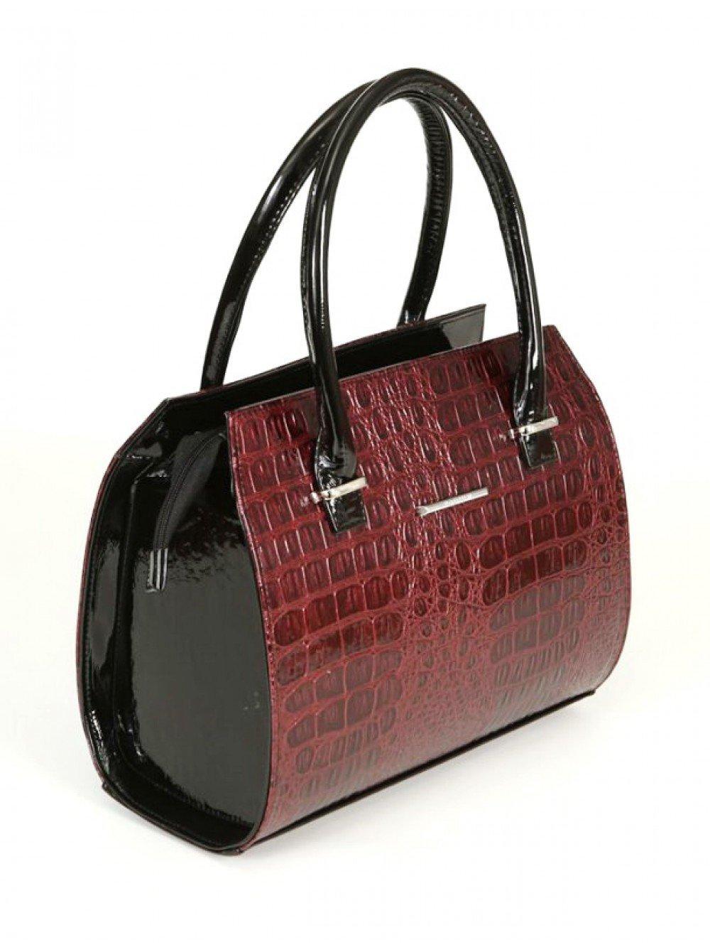 сумка каркасная красная