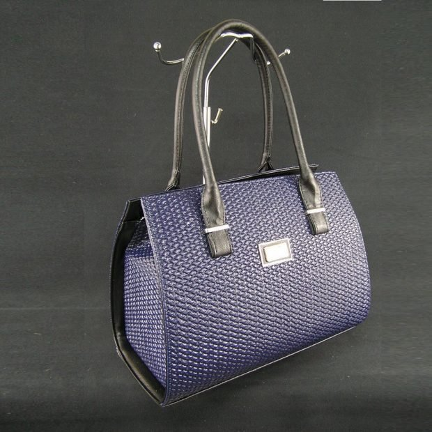 сумка каркасная фиолетовая
