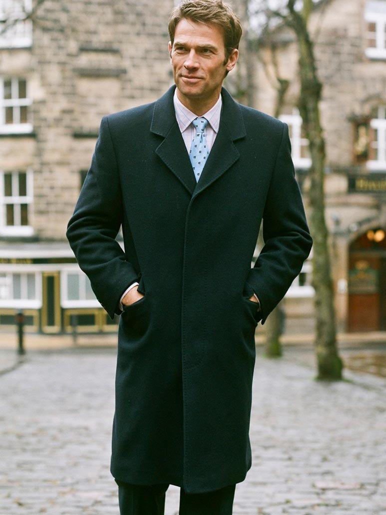 мужское пальто зеленое классика
