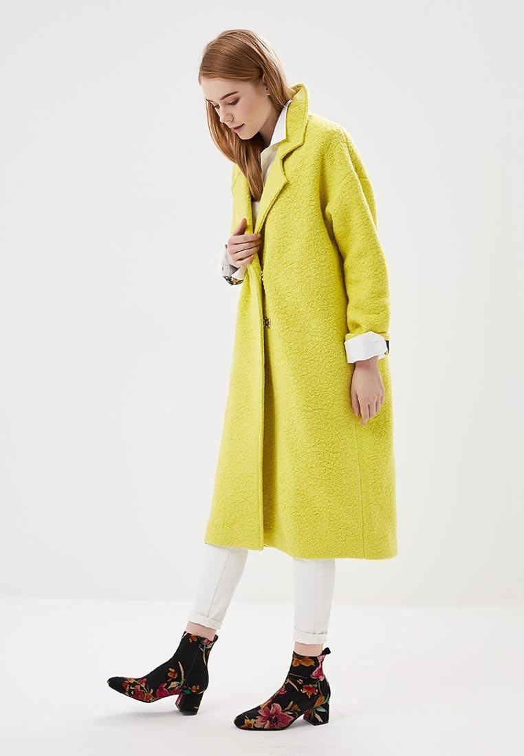 пальто лимонное оверсайз