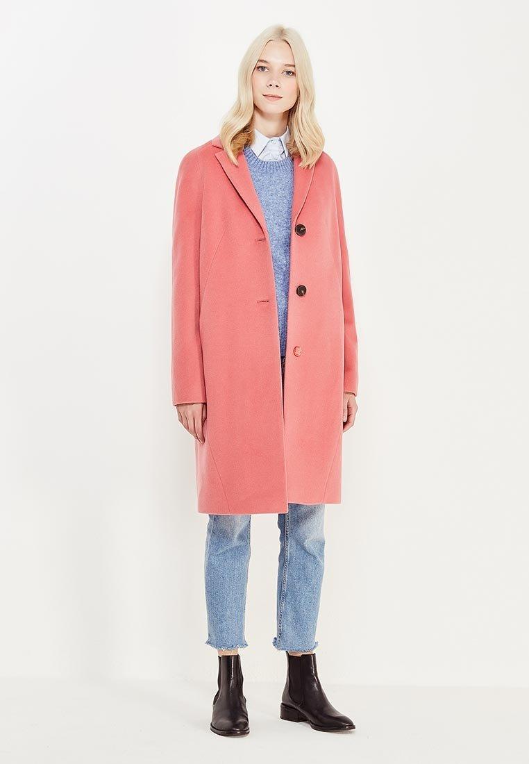 пальто розовое классика