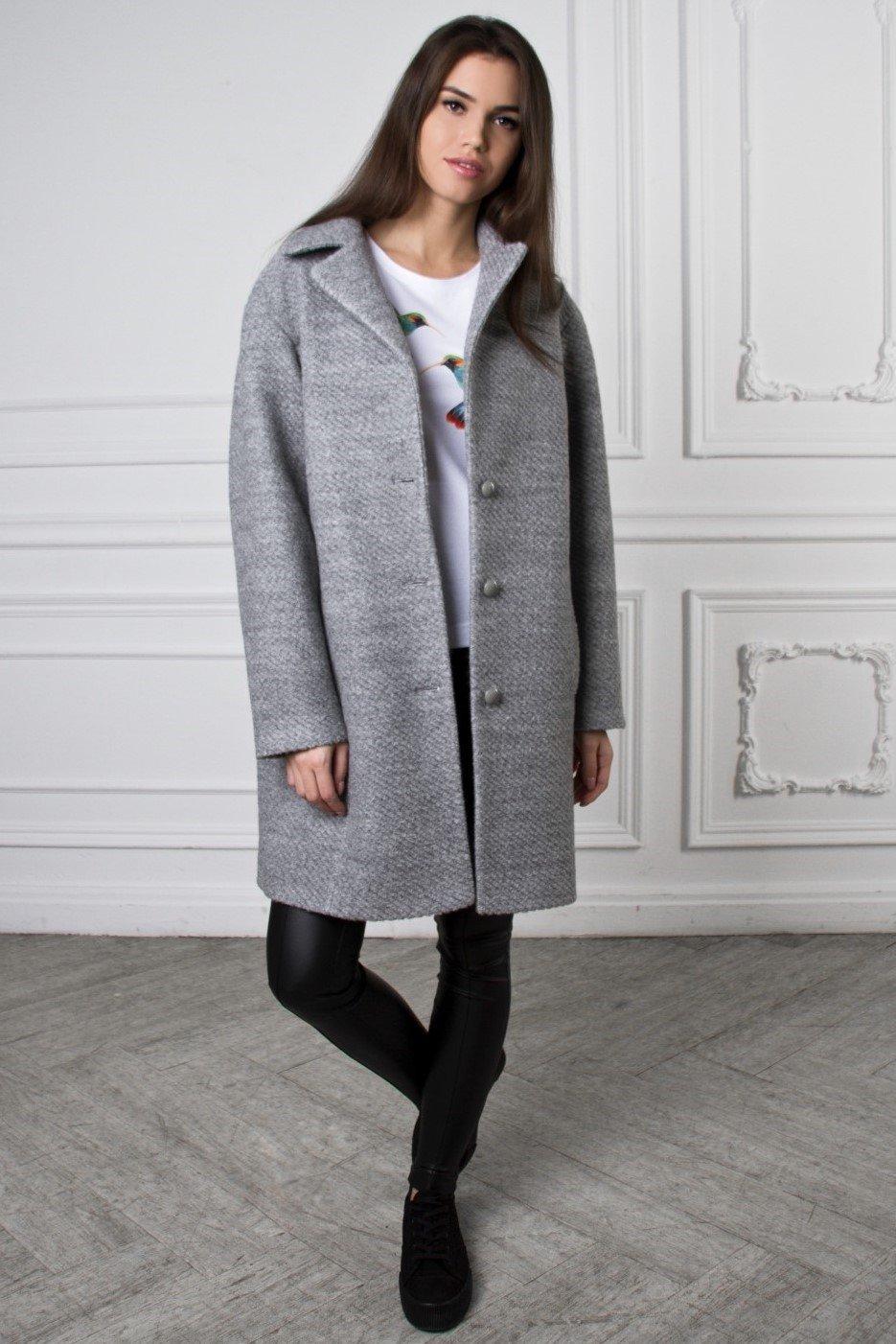 пальто серое классика