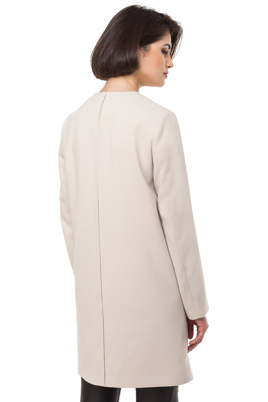 пальто белое прямое
