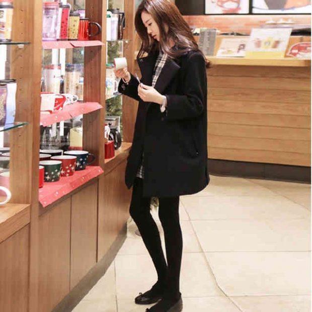 пальто-куртка черное