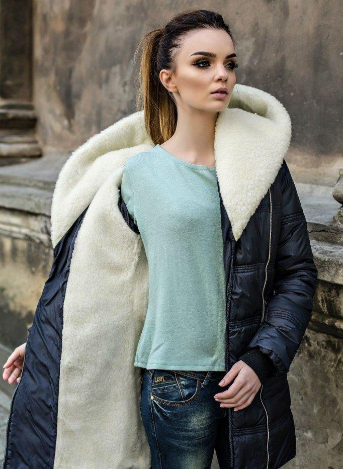 пальто на синтепоне с меховой подстежкой
