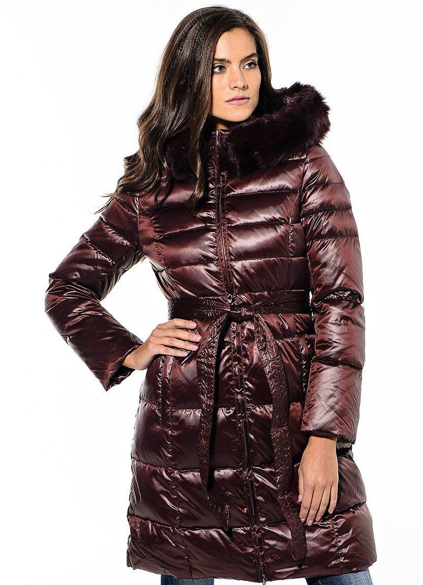 болоневое пальто коричневое