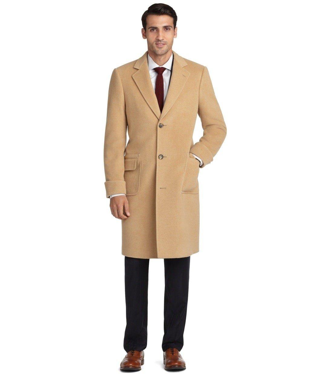мужское пальто песочное
