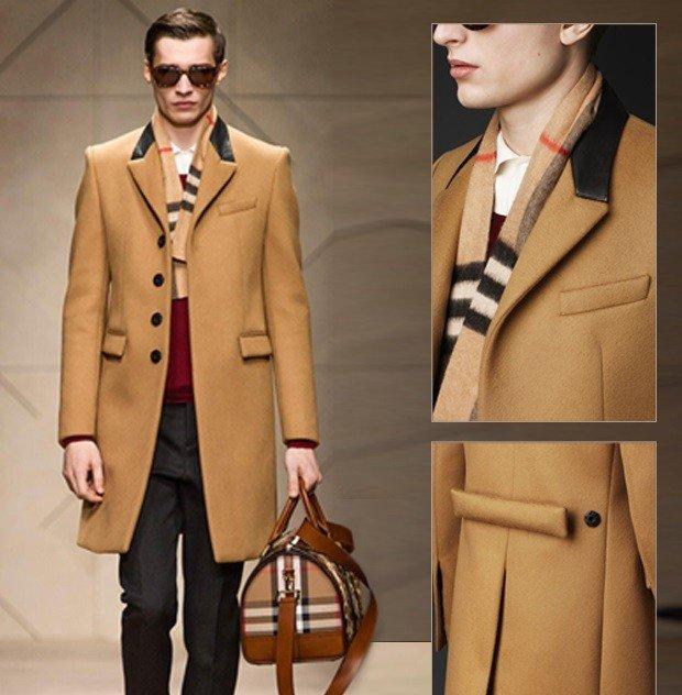 мужское пальто горчичное