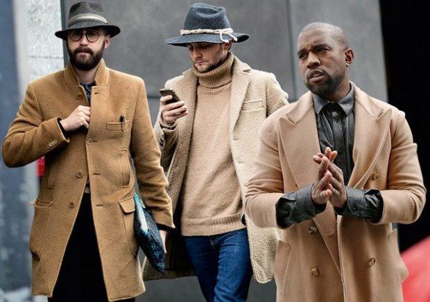 мужское пальто классика светлое