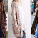 Модные женские кардиганы 2018 года: тенденции и фото