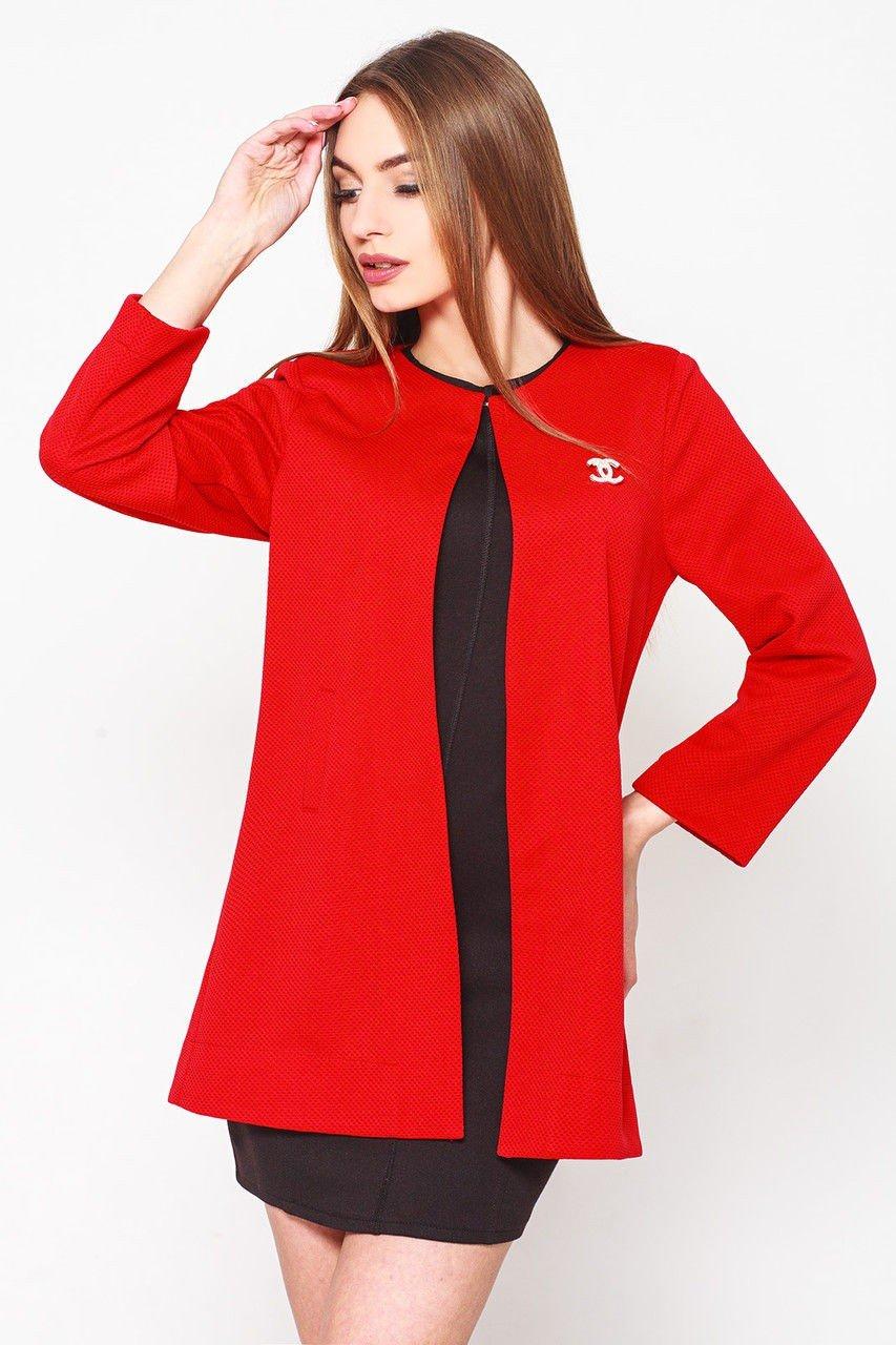 кардиган красный тканевый Шанель