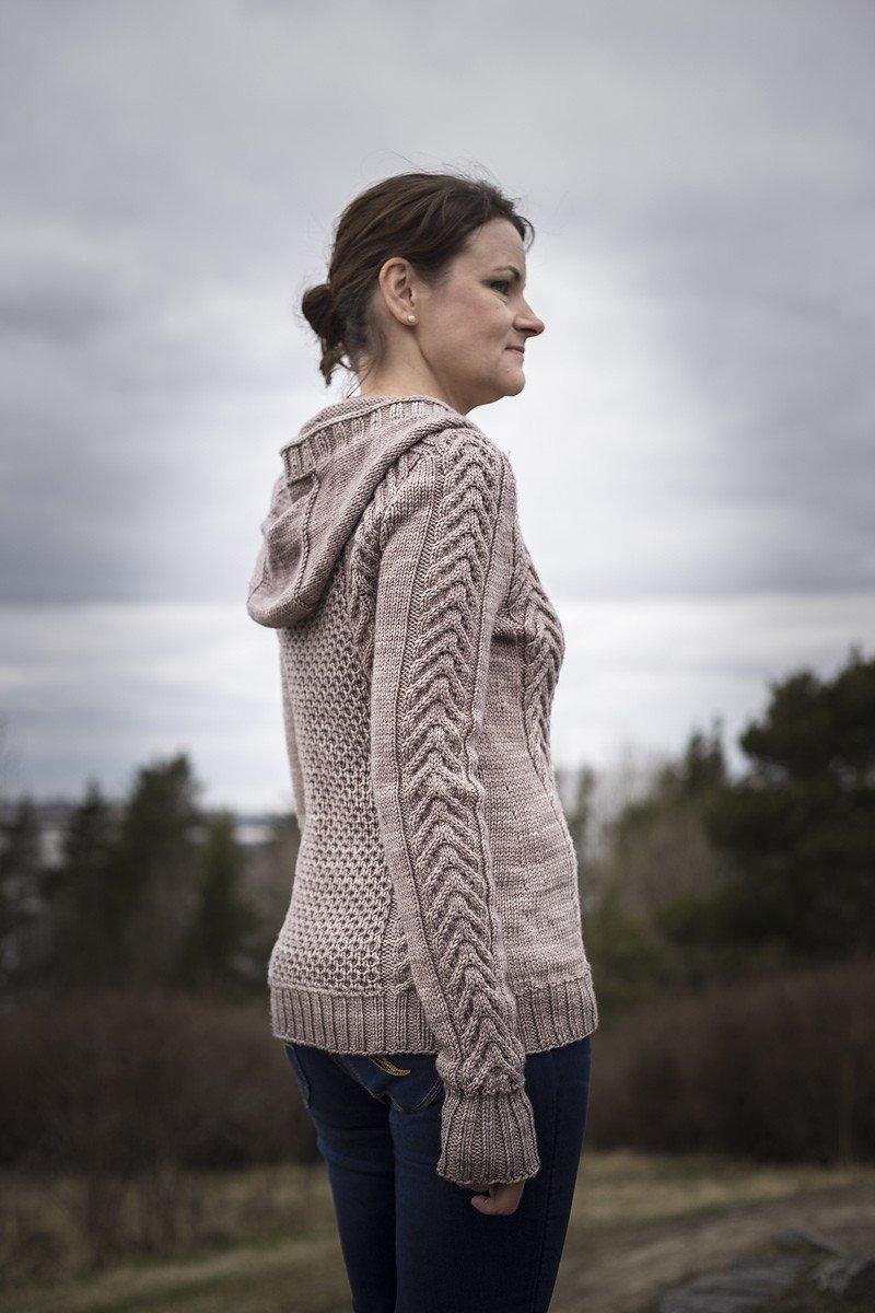 кардиган свитер светлый с капюшоном