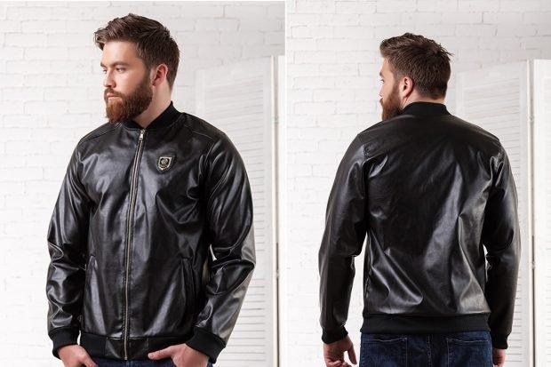черная короткая куртка кожа