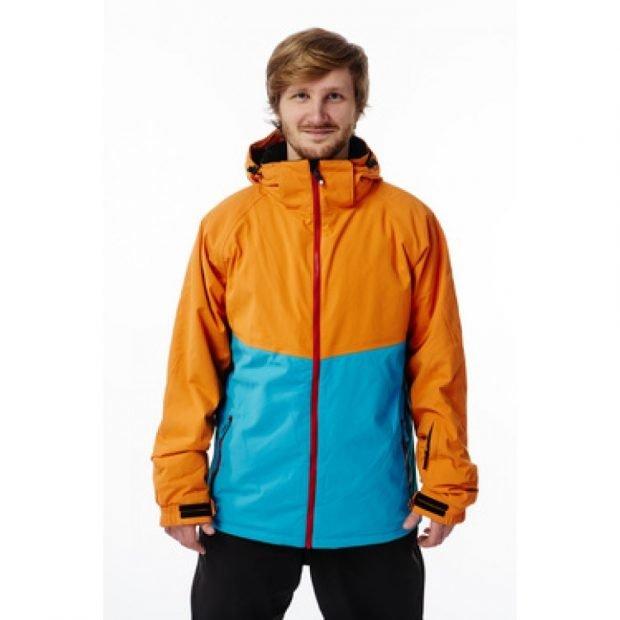 куртка для сноуборда оранжевая с голубым