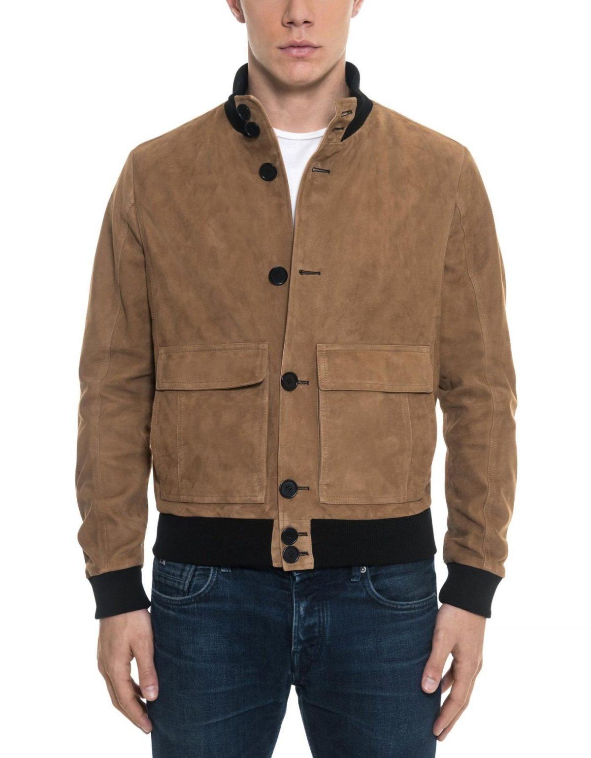 коричневая куртка бомбер