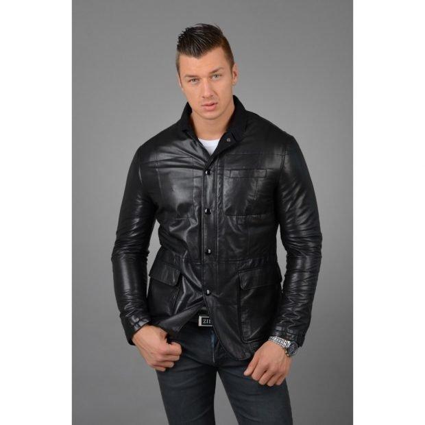 куртка-пиджак черная