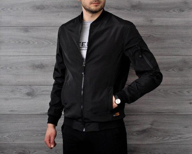 куртка ветровка черная