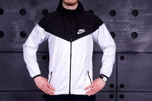 куртка ветровка спортивная белая с черным