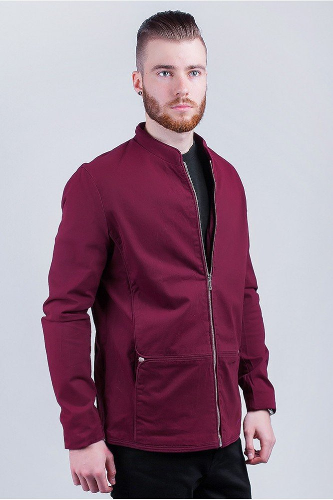куртка ветровка бордовая