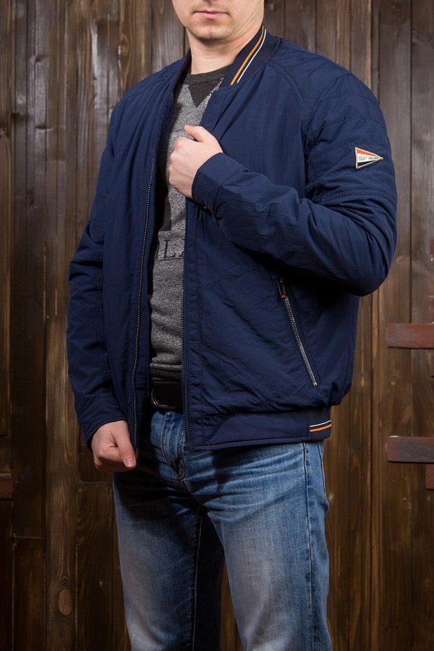 куртка ветровка синяя короткая