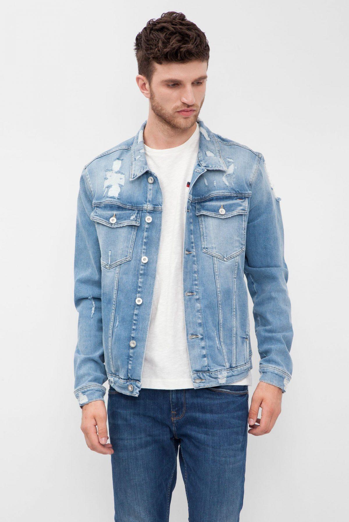 джинсовая куртка светлая