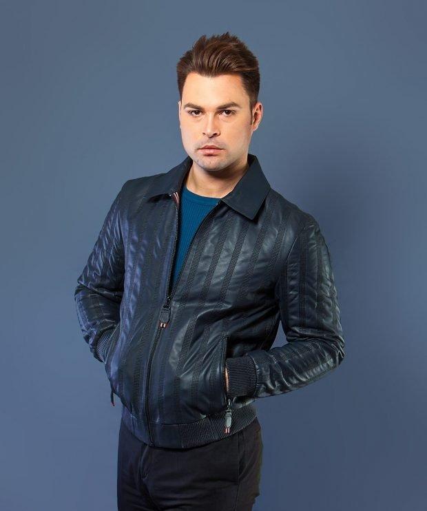куртка темно-синяя