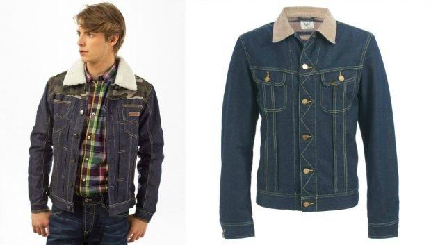 джинсовая куртка со светлым воротником
