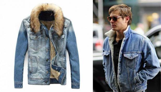 джинсовая куртка с меховой подстежкой