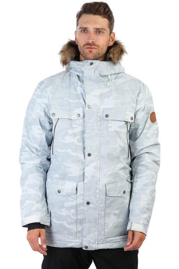 утепленная куртка голубая
