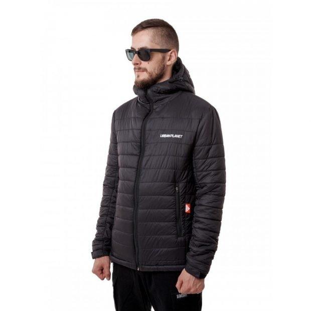 утепленная куртка черная стеганая