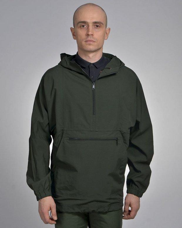 куртка анорак темно-зеленая