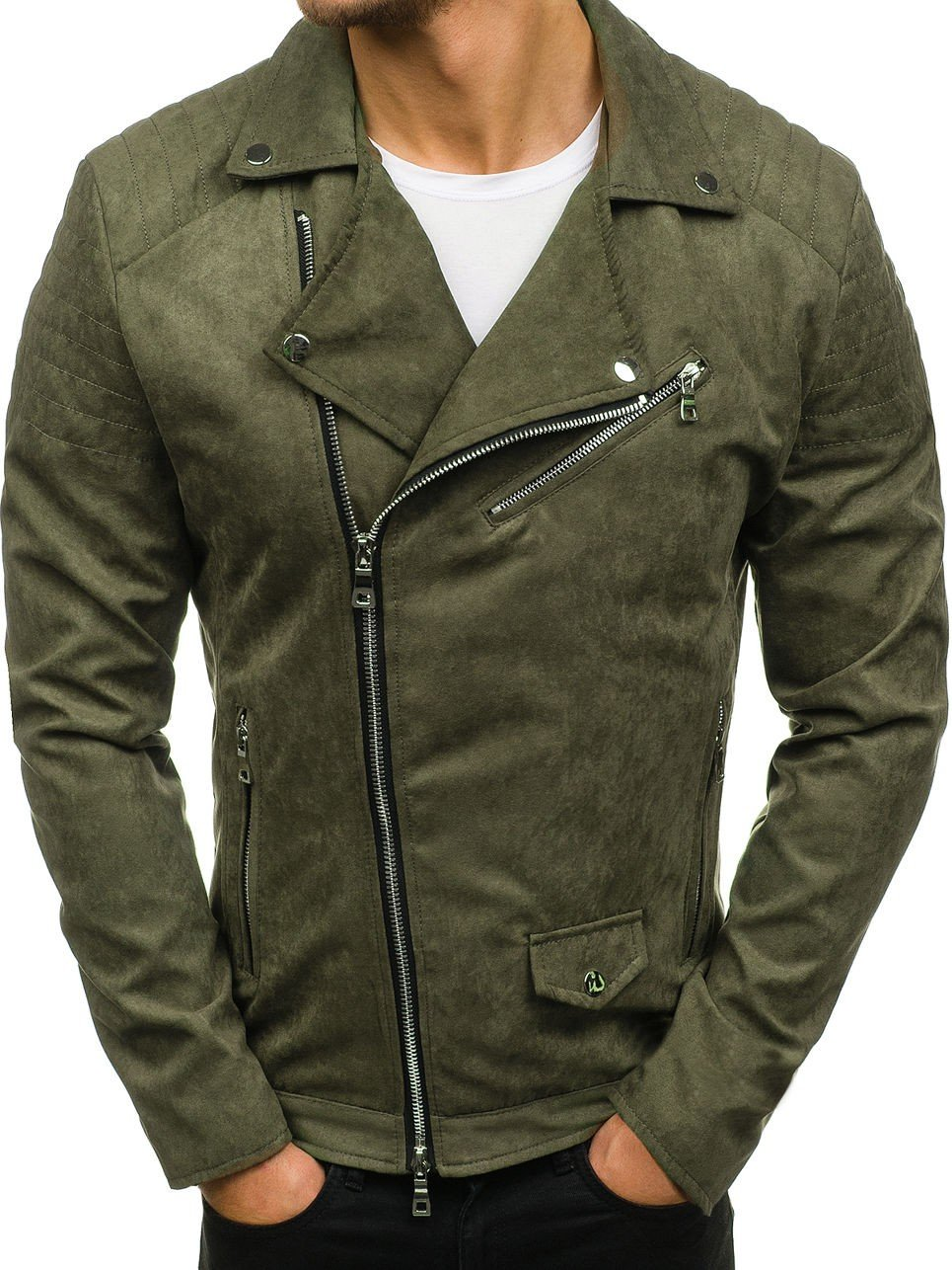 куртка косуха зеленая
