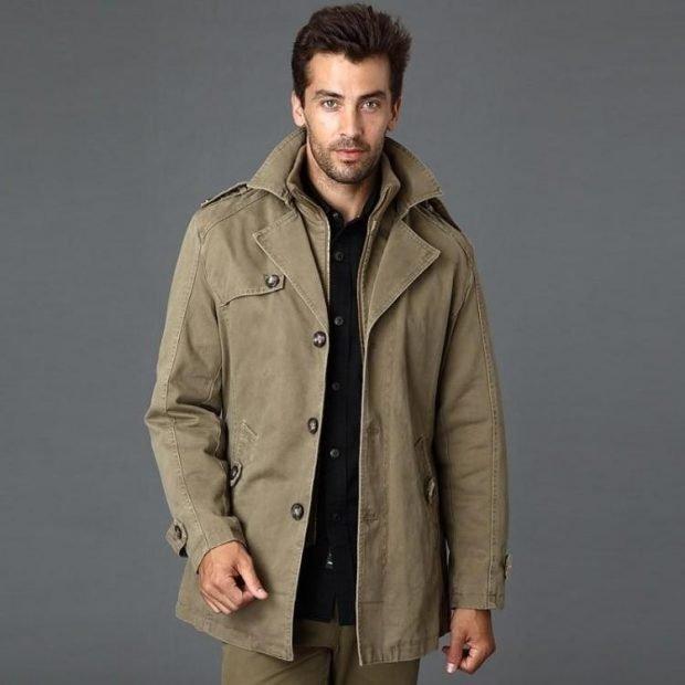пальто легкое зеленое