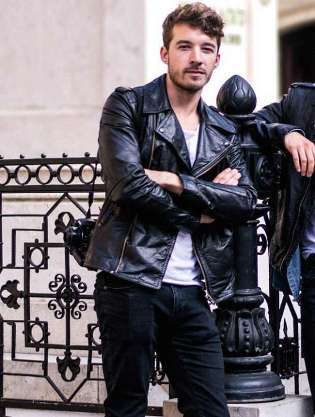 куртка косуха кожаная черная