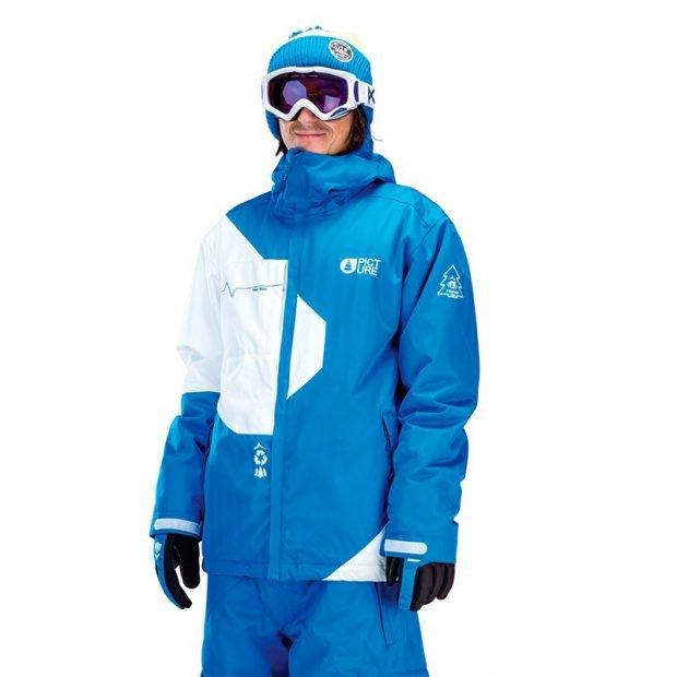 куртка для сноуборда синяя с белым