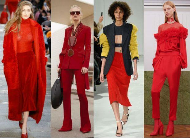 модные тенденции весна лето 2021 в красном цвете