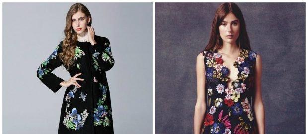 модные тенденции весна лето 2021 в цветы пальто платье без рукава