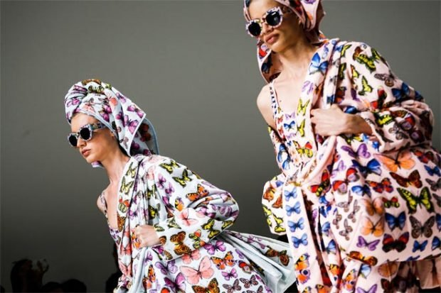 модные тенденции в принт с бабочками
