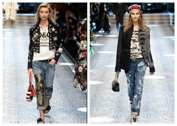 модные тенденции весна лето 2021 с короткими джинсами жакетом