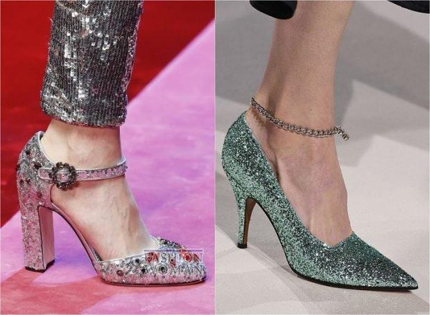 модные туфли с блестками