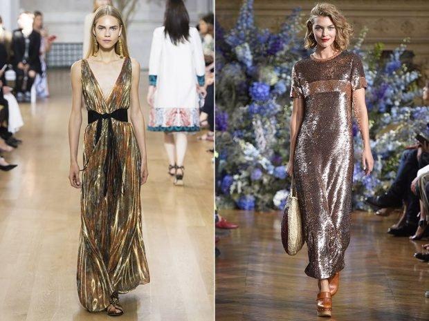 платья золотые