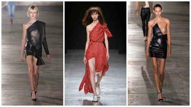 платье кожаное красное с открытым плечом кожаное платье открытое плечо